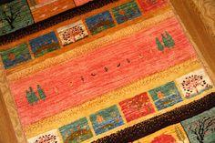 メリノウールの高級細かい織り方のギャッベ929600
