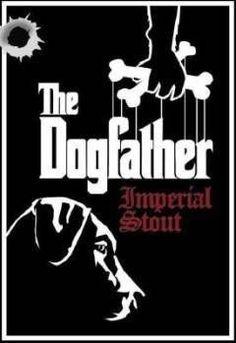 Cerveja Laughing Dog The Dogfather, estilo Russian Imperial Stout, produzida por Laughing Dog Brewing, Estados Unidos. 10.85% ABV de álcool.