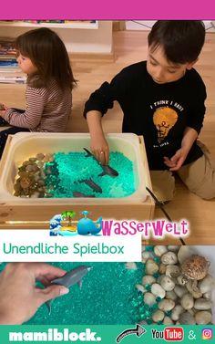 Genialer IKEA Hack: Unendliche Spielbox -Wasserwelt Ingenious IKEA hack: the infinite game box can b Ikea Kids, Easy Garden, Diy Garden Decor, Garden Ideas, Infant Activities, Activities For Kids, Ikea Boxes, Games Box, Toys