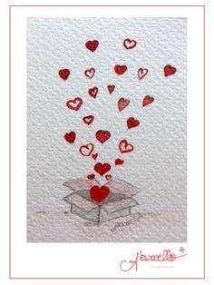 Love is in the air! Weeding congratulation by Akwarello #Hochzeitskarten #Glückwünsche #hearts #love #Liebe