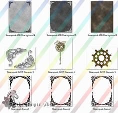 Steampunk Vintage ACEO Background Stock Pack by TheGraniteZebra, $12.00
