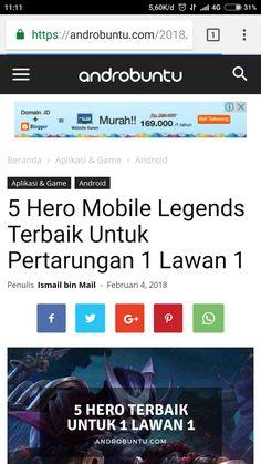 Ini dia 5 hero Mobile Legends terbaik untuk pertarungan 1 lawan 1. Baca selengkapnya di androbuntu.com