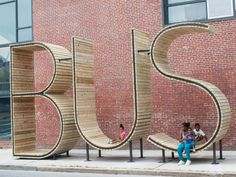 Waiting for a bus at a special BUS stop in Baltimore