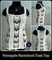 Ravelry: Pineapple racerback tank top pattern by Maz Kwok
