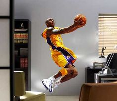 Kobe Bryant Los Angeles Lakers Mural Theme Bedroomsboy Bedroomsbedroom Ideasmancave