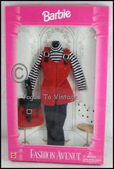Barbie Fashion Avenue Red Cordory 1995 #14362 Had this one! One of my favorite outfits!