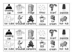 Snowman Hot and Cold Sort Freebie