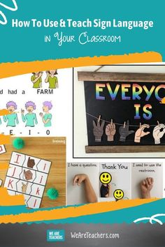 Use these resources to teach sign language basics and help your students connect with members of the deaf/hard of hearing community. Sign Language Basics, Sign Language Phrases, Asl Colors, British Sign Language, Foreign Language, Asl Words, Popular Kids Books, Color Flashcards, World Language Classroom