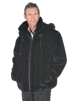 This mens mink ranch mink jacket is for the man who has the style and verve to wear this fine quality mink jacket. Mens Winter Fashion Jackets, Winter Outfits Men, Outfit Winter, Winter Clothes, Mink Jacket, Mens Fur, Suit Fashion, Jacket Style, Suits For Women