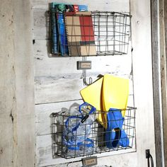 Wire Wall Basket - for small toys/hats/mittens/whatever