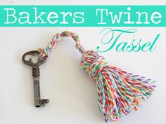 Bakers Twine Tassel.  {love bakers twine!}