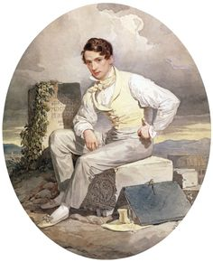 Alexander Brullov (self-portrait), 1830.