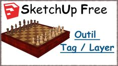 Sketchup Free - 21 - Calques / Tag / Layer Sketchup Free, 21st, Layers, Tags, Trainers, Learning, Layering, Mailing Labels