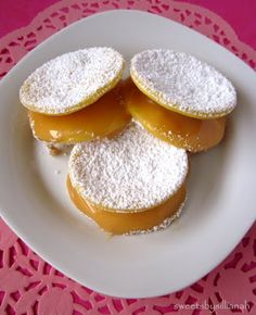 Chilean Alfajores--more flaky cookie