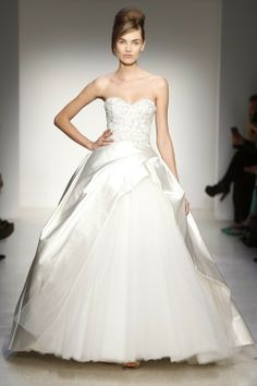 Kenneth Pool silky chiffon wedding dress