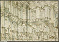 Ansicht eines Festsaals in einem Palast sold by Galerie Gerda Bassenge, Berlin, on Saturday, November 29, 2008