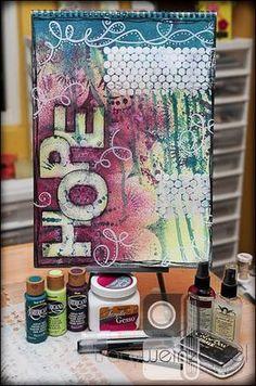 "Tracy Weinzapfel Studios: Monday Mixed Media ""Hope"" - 10/22/12"