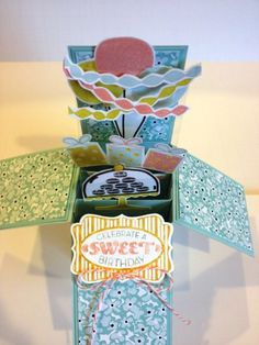 Sweet Pop Up Card in a box