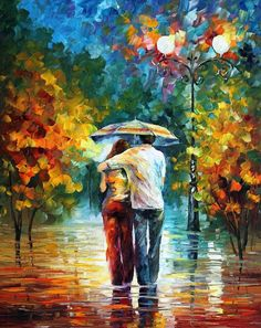 Leonid Afremov 1955 | The Impressionist Lovers