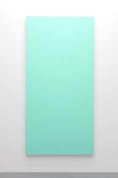 "Henry Codax [?] ~ ""Untitled (Teal)"", 2014. Acrylic on canvas (214 x 107 cm). | #art #painting #minimalart"