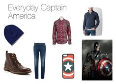 """""""Everyday Captain America"""" by geekandsundry ❤ liked on Polyvore featuring CellPowerCases, DeSanto, Ben Sherman, BKE, women's clothing, women, female, woman, misses and juniors"""