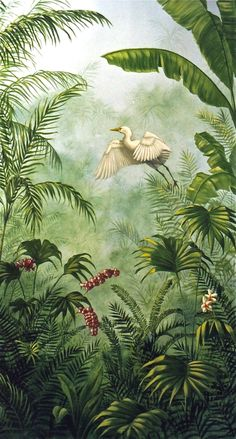 Wall mural : Love the detail on the plant Fototapete: Liebe das Detail an der Pflanze Botanical Illustration, Botanical Prints, Jungle Illustration, Jungle Art, Jungle Drawing, Wall Murals, Wall Art, Wall Mural Painting, Tropical Art