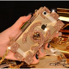 Chanel Lego Clutch Iphone 6 plus Cases TPU Covers Shining Diamond .