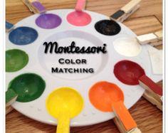 Montessori Color Matching Tray