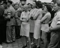 vintage everyday: Pictures of Collaborator Girls in World War II, Some are Shocking Ones!