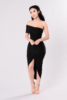 Cuffing Season Dress - Black