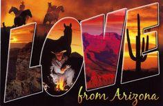 Postcard of Arizona