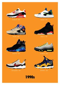 469c23ef81a8 Historical Shoe Era Posters   Nike Illustrations Sneaker Art