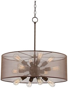 decorative edison bulbs enhance the vintage appeal of this oilrubbed bronze pendant