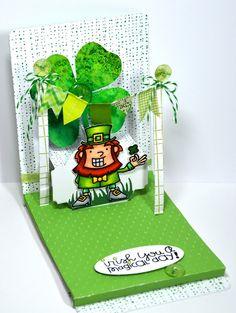 St. Patricks Day Pop n cut card