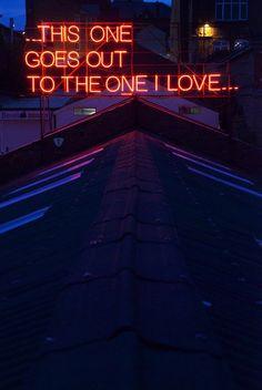 Artists Victoria Lucas and Richard William Wheater have collaborated for the past year to create this glowing, self-funded public project entitled 12 Months of Neon Love.