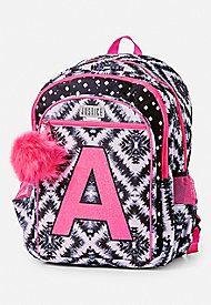 Geo Tie Dye Initial Backpack