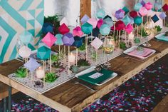 DIY geometric table runner by Sarah Park Events // photo by Lauren Fair