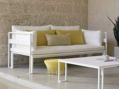 2 seater aluminium garden sofa JIAN Jian Collection by GANDIA BLASCO | design Neri & Hu Design and Research Office