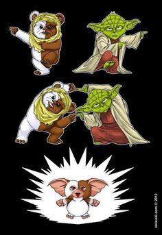 Ewok + Yoda = Guizmo!