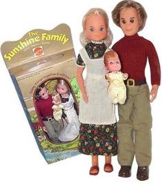 Sunshine Family dolls - I had these too! I had a little farm set that went along with them and a 'big sister'. Look so creepy to me now, but loved them as a kiddo