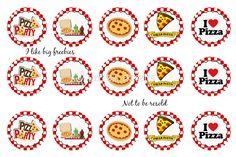 party cupcakes, hair accessori, bottlecap imag, pizza parti, bottl cap, pizza party, cupcake toppers, hair accesori, free bottl