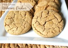 Gluten-Free Molasses Cookies ~ When I taste & smell molasses I feel like I am instantly transported into the Holiday season. A cozy & warm home, a fire burning, fresh molasses cookies baking in the oven & a cup of hot cider along side. Hope you enjoy this simple recipe for gluten free molasses cookies!