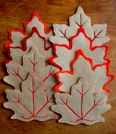 Make It: DIY Felt Fall Leaf Coasters