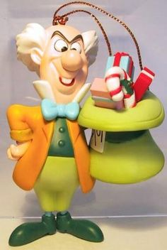 Mad Hatter with gifts in his hat ornament (Grolier) from Fantasies Come True