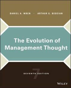 evolution of management thoughts reflection paper Being a paper presented at the 15th east african central banking course, held on 12th july 2004, at kenya school of monetary studies 1 modern management theories and practices: a critical overview introduction managing is one of the.