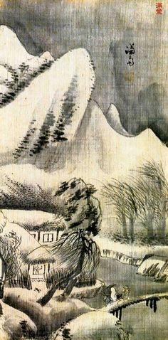 (Korea) Landscapes by Gyeomjae Jeong Seon (1676-1759). ca 18th century CE. color on paper. 겸재 정선