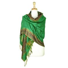 Shop for Pashmina Shawl Scarf Wrap Border Pattern Double Layered Reversible. Get free delivery On EVERYTHING* Overstock - Your Online Accessories Outlet Store! Pashmina Shawl, Silk Shawl, Fancy Hands, Tube Scarf, Border Pattern, Shawls And Wraps, Womens Scarves, Scarf Wrap, Clothes