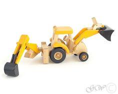 Juguetes ecológicos naturales Tractor de Tractor por GreenWoodLT