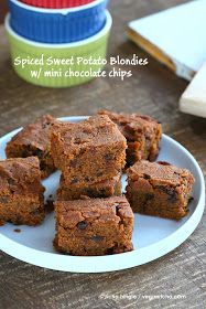 Vegan Richa: Sweet Potato Blondies with Chocolate chips. Glutenfree Vegan Recipe
