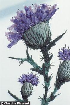 Broder au ruban comme les artistes de l'Ecole Lesage- thistle embroidery
